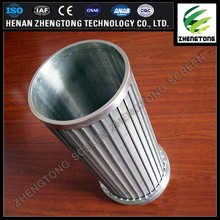 water well drilling welded wire filter pipe Johnson screen tube