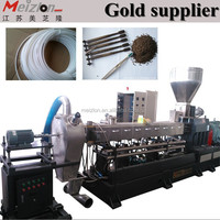 compounding twin screw extruder for masterbatch/pa/pe/pet/pvc/sbs/nbr/epdm/plastic grinding granulator machine