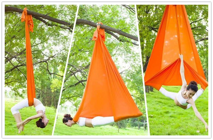 Professional Aerial Yoga Hammock High Strength Nylon Low Stretch Aerial Yoga Swing Anti Gravity Yoga 20 Colors Factory Sales