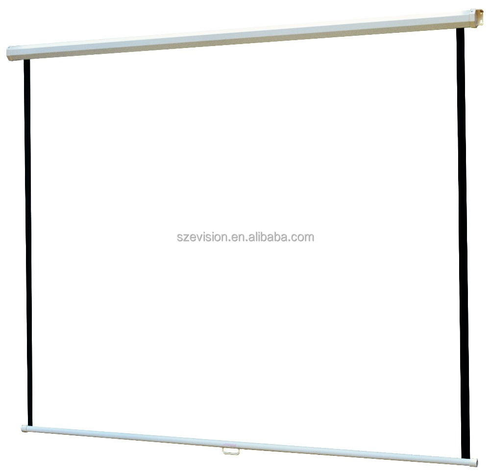 Wall Mount Manual Multimedia Projector and Screen