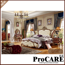 High Quality Italian Style bed Set Hand Made Royalty bedroom Furniture