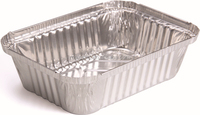 "7.5""L x 5.5""W x 2""D aluminum foil container for household"