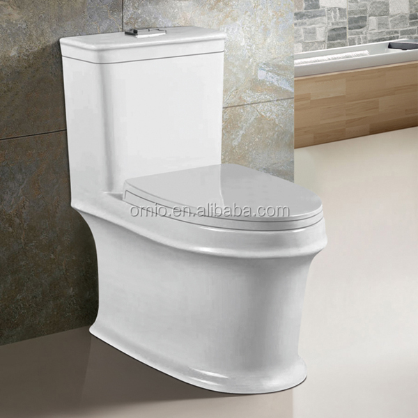 One Piece Structure and Round Toilet Bowl Shape Water Closet size siphonic wc pan