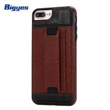 Mobile phone accessories pu leather card holder back cover wallet phone case for iPhone 7 8plus