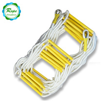 factory customized emergency nylon Folding Fire Escape soft Safety Rope Ladder