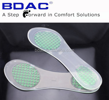 lady shoe pu gel adhesive anti slip insole foot pillow