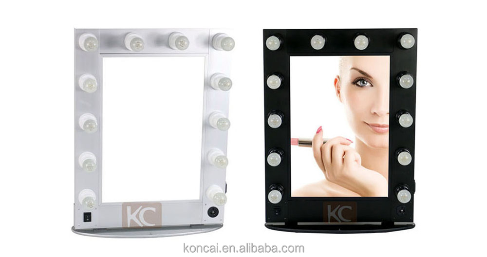 Beauty Aluminum Hair Salon Mirror Station Decorative LED Lighting Salon Mirrors For Sale