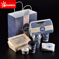 Disposable Paper Plastic Restaurant Packaging Supplies for Food