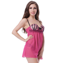OEM Sexy Transparent Nude Babydoll for Fat Ladies