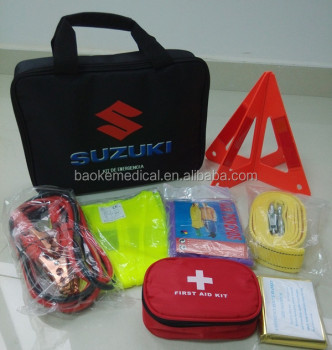 Premium auto first aid kit Car survival kit with over 100 pcs medical supply