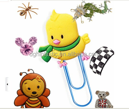 OEM Kawaii rubber Cartoon 3D Bookmark Wholesales for promotional