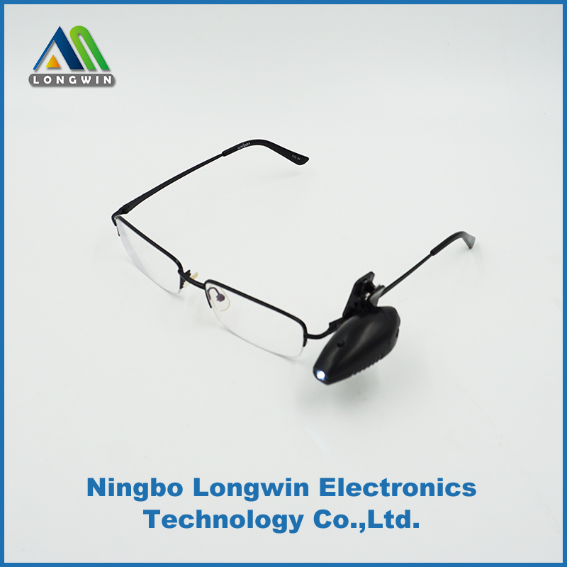 mini clip led light for glasses and night reading