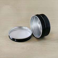 5.29oz/150g wholesale black candle tins. round screw aluminum jar for packing snus