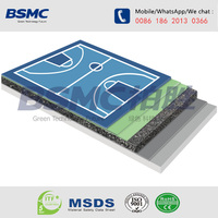 SBR and PU basketball court synthetic flooring