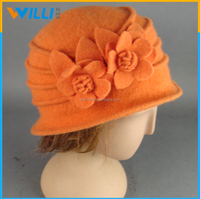high quality wool hats beanie hat with flower