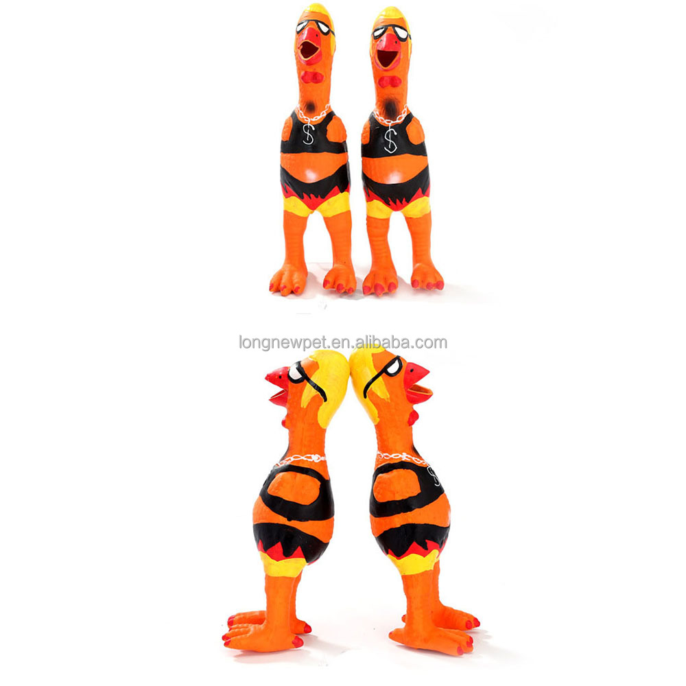 New Design Funny Dog Squeaky Latex Chicken Toy