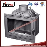 Made in China 14KW burning wood cast iron fireplace