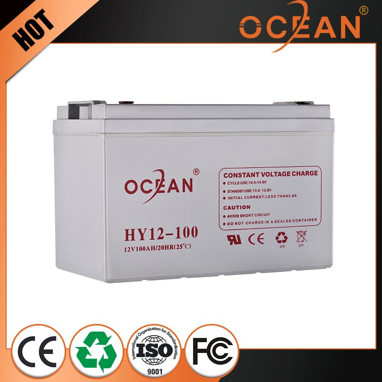 100ah discharge 12V good quality big stock sealed lead acid battery 12v