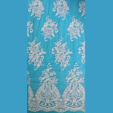 bazin riche dresses embroidery white lace fabric african in china