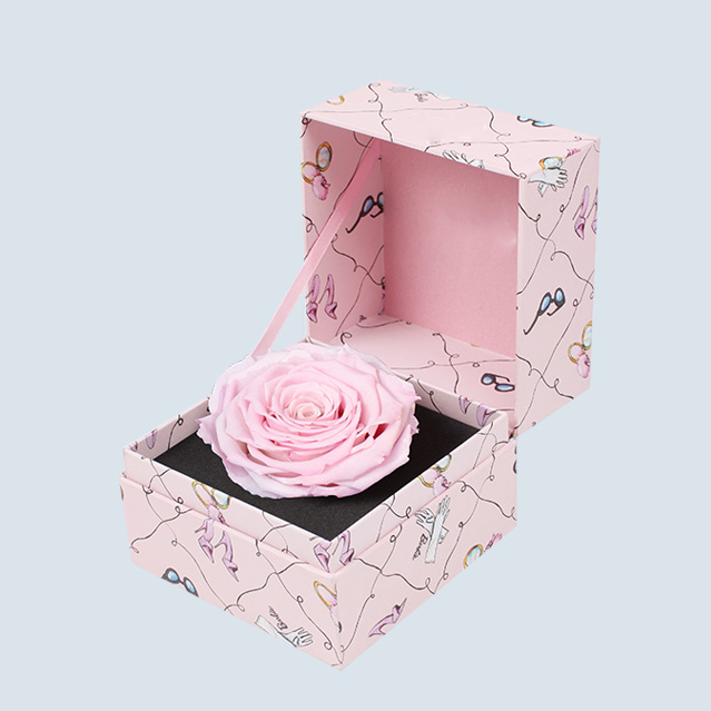Fashion Custom Paper Everlast Preserved Flower Box