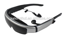 "2013 New Coming! New 98"" 3d multimedia virtual video glasses WVGA 16:9 goggles, IVS-1"