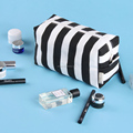 New Arrivsl Black & White straps hand Canvas cosmetic bag