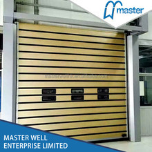 Aluminium spiral outer automatic control high speed roller shutter door