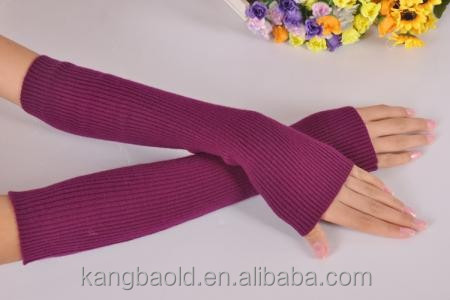 Fashion Stocking Ladies Cable Knit Long Style Fingerless Knit Gloves