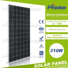 High efficiency water cooled mono 310 watt solar panel price for sale