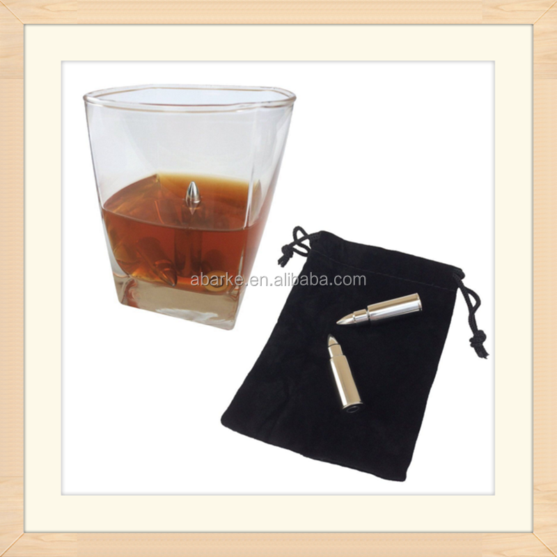 Wholesale bullet shaped whiskey chilling rocks whiskey stone