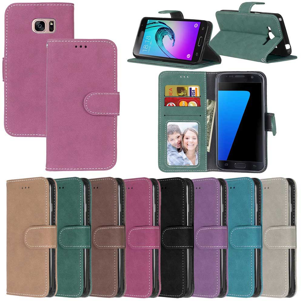 Fashion Retro Scrub PU Leather Case For Samsung Galaxy S3 SIII I9300 Cover Cases Card Slots Wallet