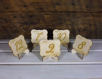 Table Number Wedding Signs on Stand