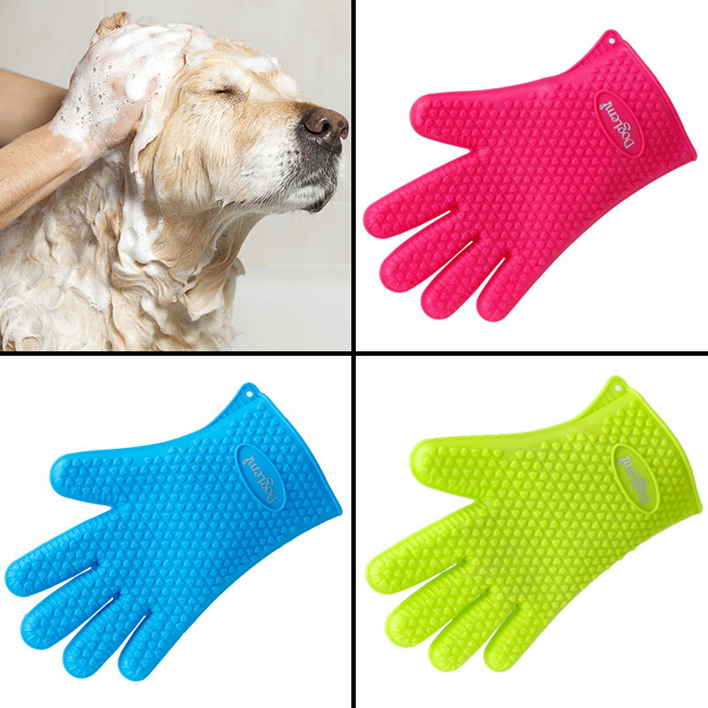 Pet Grooming Glove Dog Cat Bath Brush Silicon Waterproofming Product