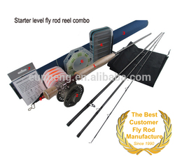 Economic level fly fishing rod reel combo and customer design
