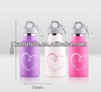 350ML double-walled vacuum stainless steel sports water bottle FDA,LFGB approved