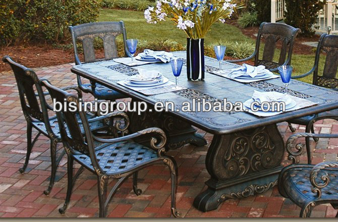 Wrought iron outdoor table and chair/Luxury antique furniture (BF10-M278)