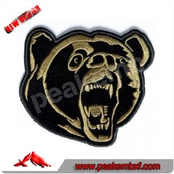 Hot Sale Bear Custom Embroidery Patch For Uniform