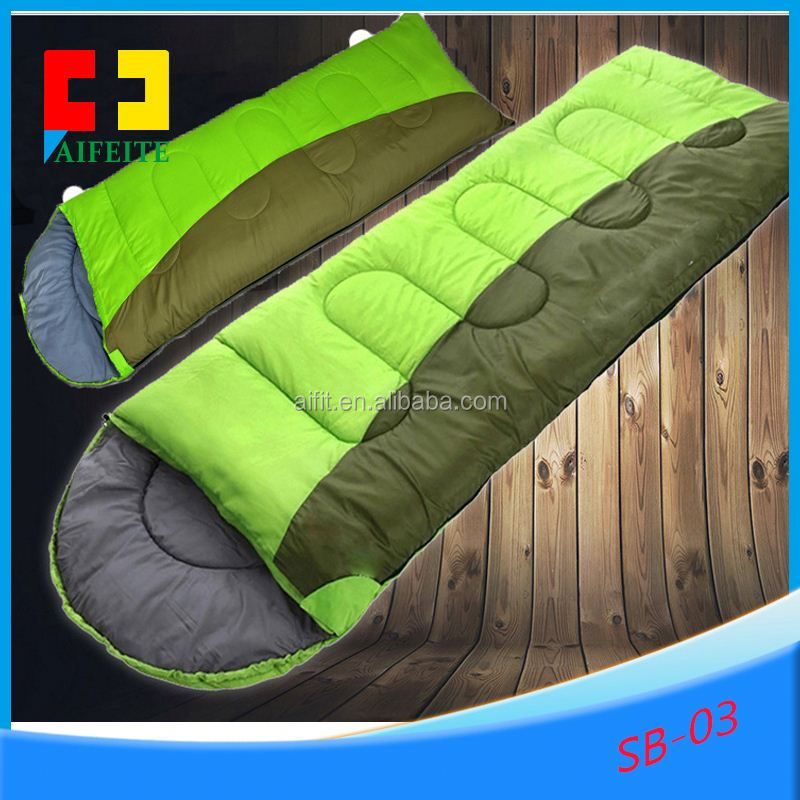 2016 very popluar light weight nylon banana sleeping bag inflatable sleeping bag