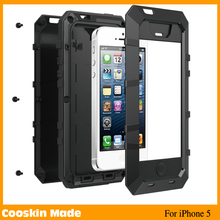 Hot selling aluminum Corning Gorilla Glass metal shockproof case for iphone 5