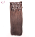 Hot Selling Full Cuticles Remi Hair Double Drawn 180g Clip In Extensions