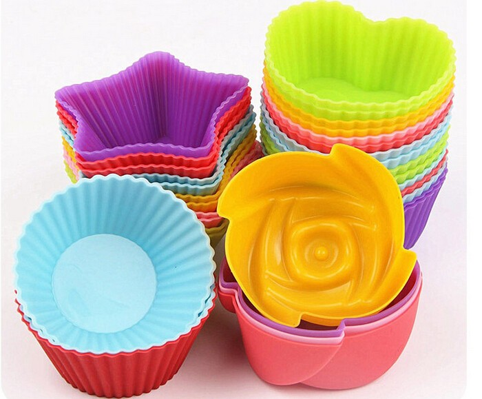 Colorful BPA Free silicone cupcake form,Food grade silicone cupcake form,Baking product silicone cupcake form