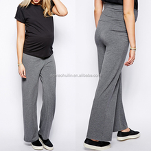 Maternity Clothes Exclusive Women Pants With Fold Over Pregnant Maternity Pants