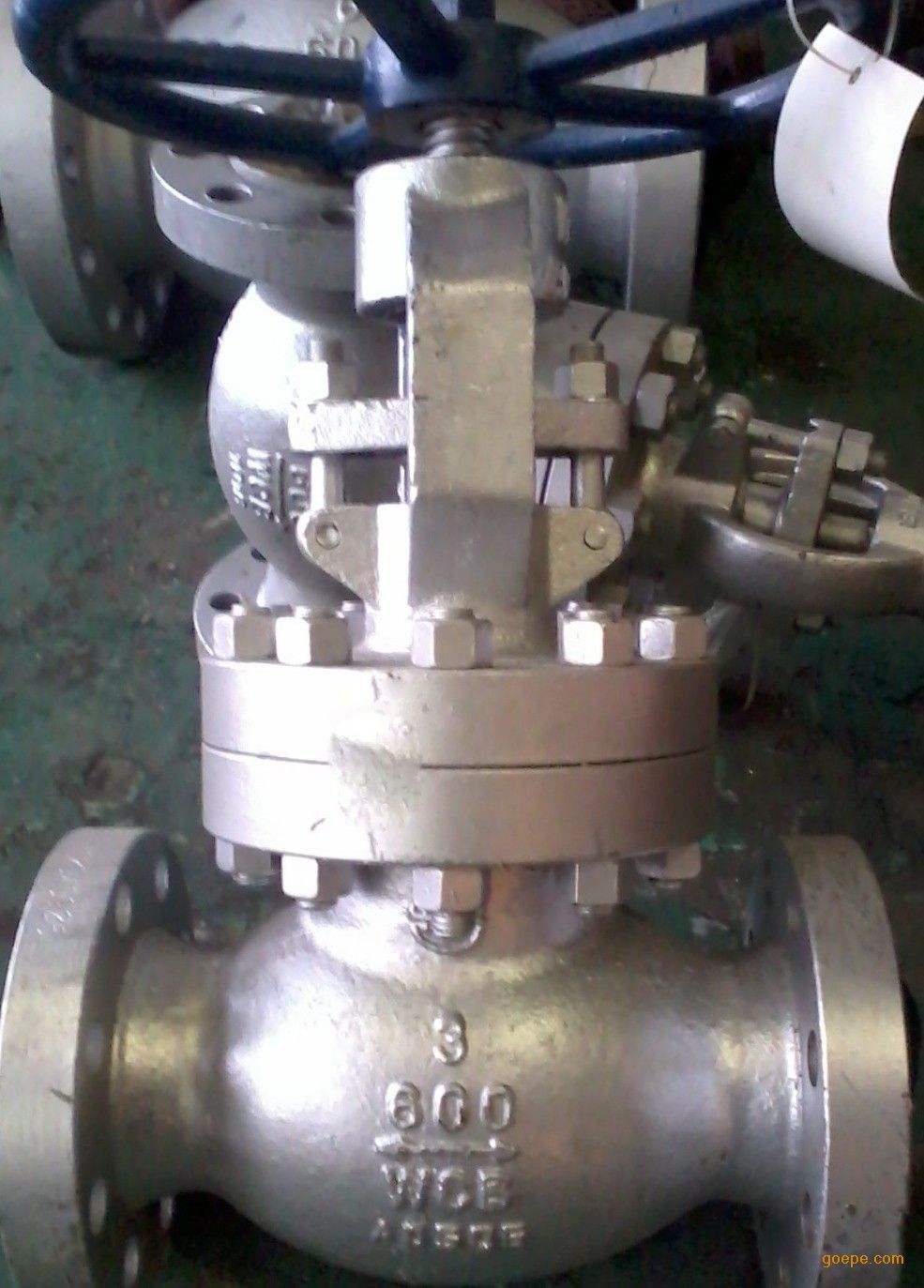 ISO9001 Flanged Low Fugitive Emission Globe Valve Manual Operated