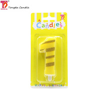 Fancy Decoration Color Birthday Number Candle