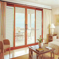 with blind inside aluminum glass doors and windows (WJ-ASD-1520)