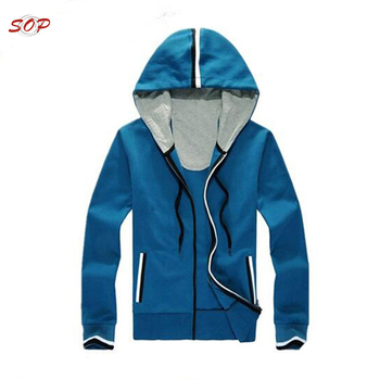 Fashion kids wear sport clothing hood design custom sweatshirt boys zipper hoodies