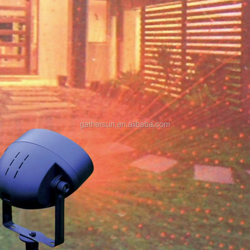 Garden Tree and Wall Decoration Outdoor Garden Laser Light for Holiday Lighting (Green and Red)