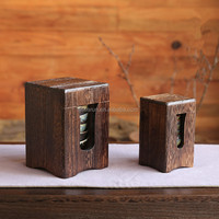 Home & garden Antiqued Wooden Storage Packaging Box for bowls and dishes