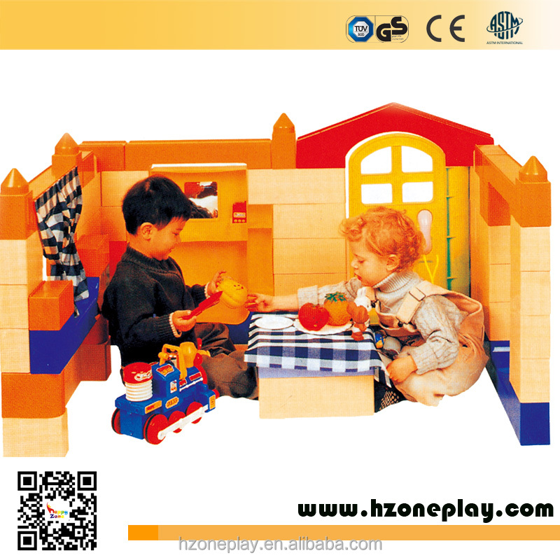 CE certified Big Educational Plastic Building Blocks Happy Big Blocks for Kindergarten and Day Cares