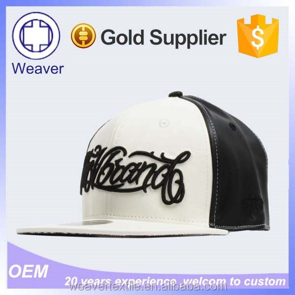 3d Gold Letters Bolted Wholesale Leather Strap Snapback Blank Hat Starter Hat